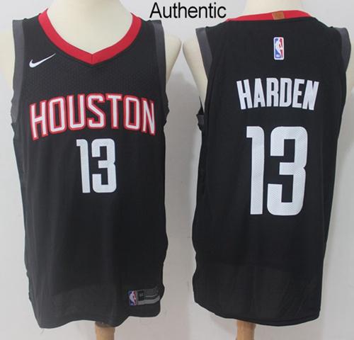 Nike Houston Rockets #13 James Harden Black NBA Authentic Statement Edition Jersey