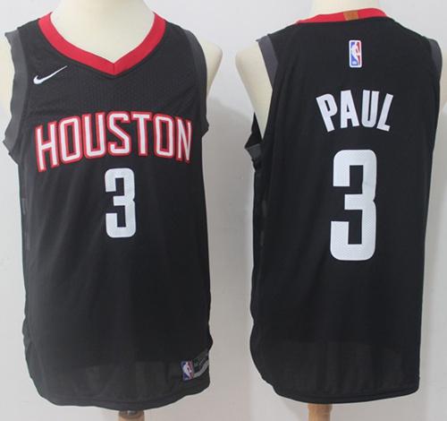 Nike Houston Rockets #3 Chris Paul Black NBA Authentic Statement Edition Jersey