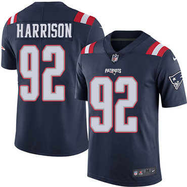 Nike New England Patriots #92 James Harrison Navy Blue Stitched NFL Limited Rush Jersey