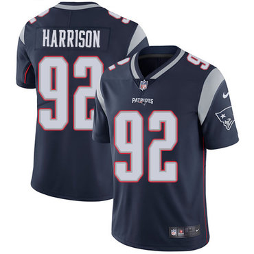 Nike New England Patriots #92 James Harrison Navy Blue Team Color Youth Stitched NFL Vapor Untouchable Limited Jersey