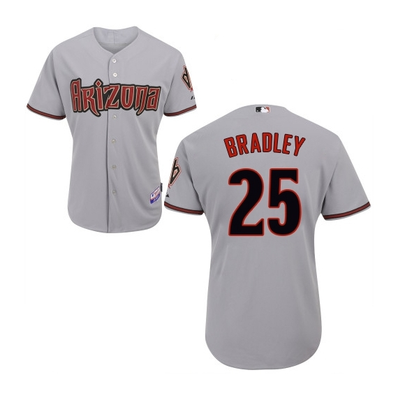 Arizona Diamondbacks #25 Archie Bradley Official Grey Authentic Men's Majestic Road Cool Base MLB Jersey