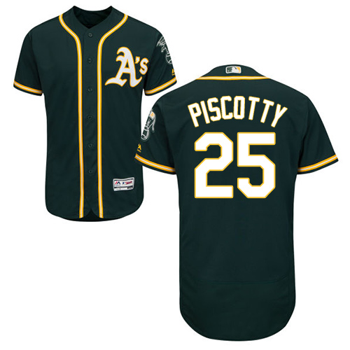 Oakland Athletics #25 Stephen Piscotty Green Flexbase Authentic Collection Stitched MLB Jersey