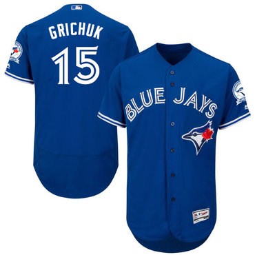 Toronto Blue Jays #15 Randal Grichuk Blue Flexbase Authentic Collection Stitched MLB Jersey