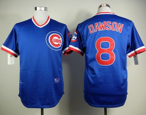 Chicago Cubs #8 Andre Dawson Blue Cooperstown Stitched MLB Jersey
