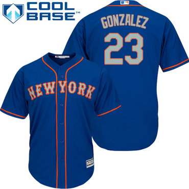New York Mets #23 Adrian Gonzalez Blue New Cool Base Alternate Home Stitched MLB Jersey