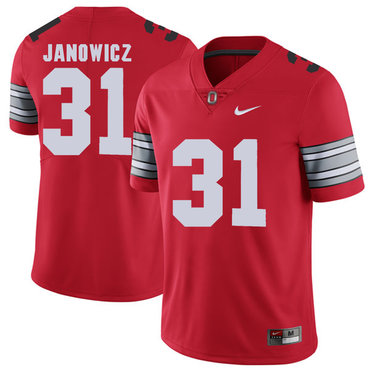 Ohio State Buckeyes 31 Vic Janowicz Red 2018 Spring Game College Football Limited Jersey