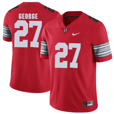 Ohio State Buckeyes 27 Eddie George Red 2018 Spring Game College Football Limited Jersey