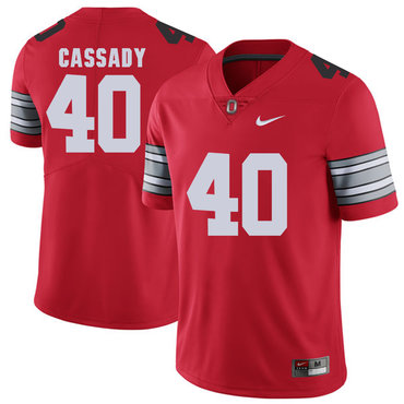 Ohio State Buckeyes 40 Hopalong Cassady Red 2018 Spring Game College Football Limited Jersey