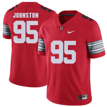 Ohio State Buckeyes 95 Cameron Johnston Red 2018 Spring Game College Football Limited Jersey