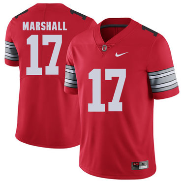 Ohio State Buckeyes 17 Jalin Marshall Red 2018 Spring Game College Football Limited Jersey