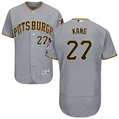 Pittsburgh Pirates #27 Jung-ho Kang Grey Flexbase Authentic Collection Stitched MLB Jersey