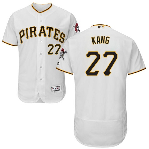 Pittsburgh Pirates #27 Jung-ho Kang White Flexbase Authentic Collection Stitched MLB Jersey