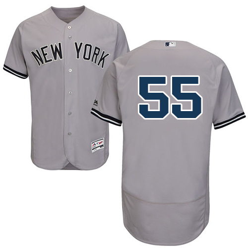 New York Yankees #55 Sonny Gray Grey Flexbase Authentic Collection Stitched MLB Jersey