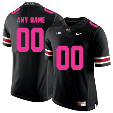 Ohio State Buckeyes Black Customized 2018 Breast Cancer Awareness College Football Jersey