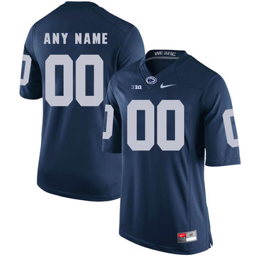 Penn State Navy Men's Customized College Football Jersey