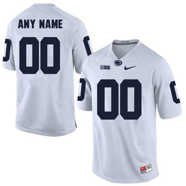 Penn State White Men's Customized College Football Jersey
