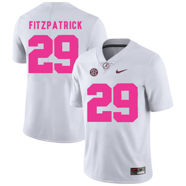 Alabama Crimson Tide 29 Minkah Fitzpatrick White 2017 Breast Cancer Awareness College Football Jersey