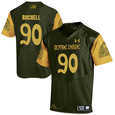 Notre Dame Fighting Irish 90 Isaac Rochell Olive Green College Football Jersey