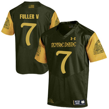 Notre Dame Fighting Irish 7 Will Fuller V Olive Green College Football Jersey