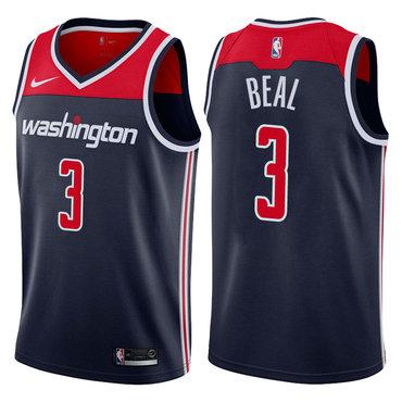 Nike Washington Wizard #3 Bradley Beal Navy Nike Swingman Jersey