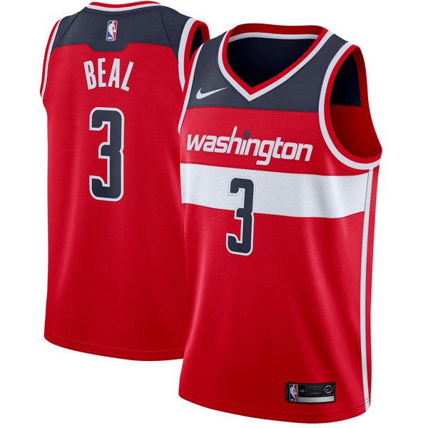 Nike Washington Wizard #3 Bradley Beal Red Nike Swingman Jersey