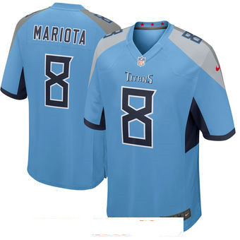 Men's Tennessee Titans #8 Marcus Mariota Nike Light Blue New 2018 Game Jersey