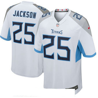 Men's Tennessee Titans #25 Adoree' Jackson Nike White New 2018 Game Jersey