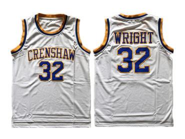 Crenshaw Love And Baskeball 32 Monica Wright White Stitched Movie Jersey