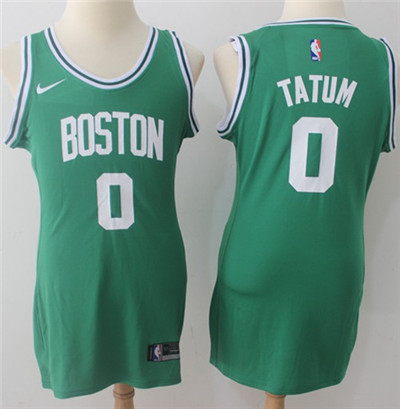 Nike Boston Celtics #0 Jayson Tatum Green Women's NBA Swingman Icon Edition Jersey