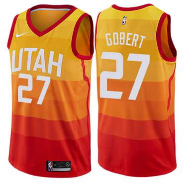 Nike Utah Jazz #27 Rudy Gobert Orange NBA Swingman City Edition Jersey