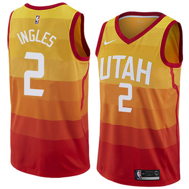 Nike Utah Jazz #2 Joe Ingles Orange NBA Swingman City Edition Jersey