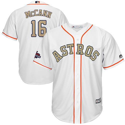 Houston Astros #16 Brian McCann White 2018 Gold Program Cool Base Stitched MLB Jersey