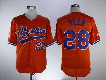 Clemson Tigers #28 Seth Beer Orange College Baseball Jersey