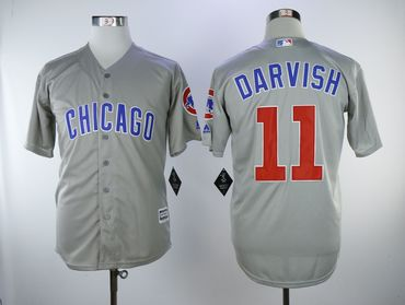 Chicago Cubs #11 Yu Darvish Gray Cool Base Jersey