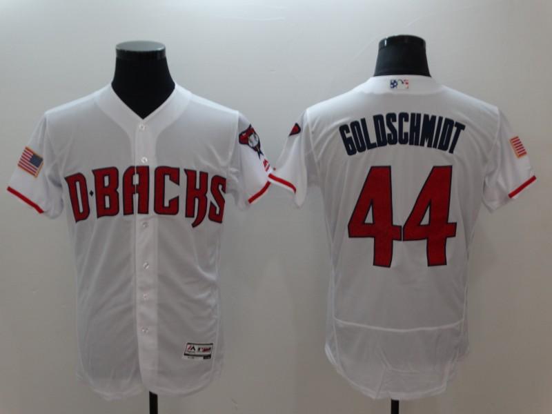Arizona Diamondbacks #44 Paul Goldschmidt White Flexbase Jersey