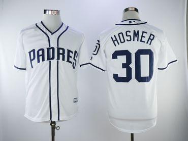 San Diego Padres #30 Eric Hosmer White Cool Base Jersey
