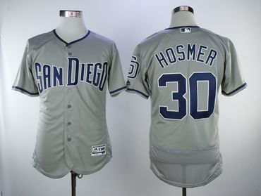 San Diego Padres #30 Eric Hosmer Gray Flexbase Jersey
