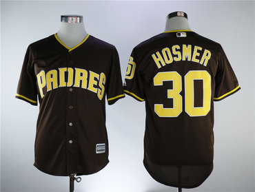 San Diego Padres #30 Eric Hosmer Brown Cool Base Stitched Men MLB Jersey