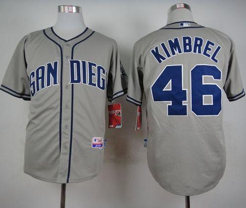 San Diego Padres #46 Craig Kimbrel Grey Cool Base Stitched MLB Jersey