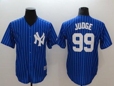 New York Yankees #99 Aaron Judge Blue Cool Base Jersey