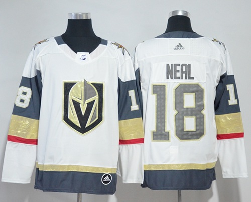 Adidas Vegas Golden Knights #18 James Neal White Road Authentic Women's Stitched NHL Jersey
