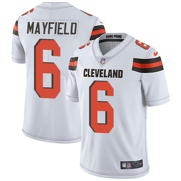 Nike Cleveland Browns #6 Baker Mayfield White Men's Stitched NFL Vapor Untouchable Limited Jersey