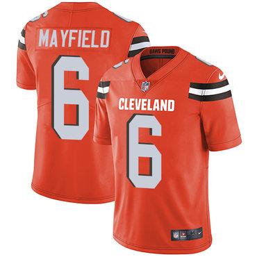 Nike Cleveland Browns #6 Baker Mayfield Orange Alternate Men's Stitched NFL Vapor Untouchable Limited Jersey