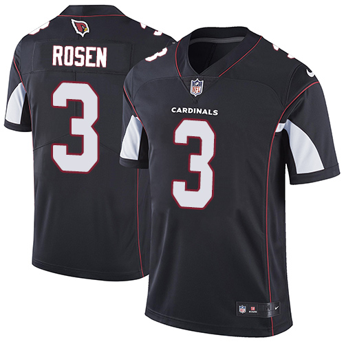 Nike Arizona Cardinals #3 Josh Rosen Black Alternate Men's Stitched NFL Vapor Untouchable Limited Jersey