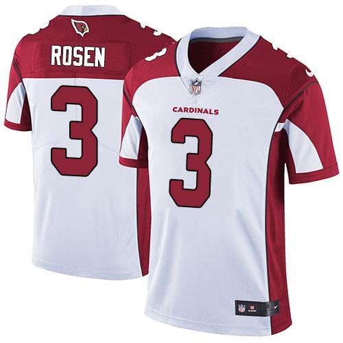 Nike Arizona Cardinals #3 Josh Rosen White Men's Stitched NFL Vapor Untouchable Limited Jersey