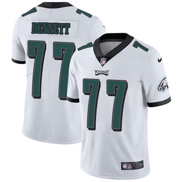 Nike Philadelphia Eagles #77 Michael Bennett White Men's Stitched NFL Vapor Untouchable Limited Jersey