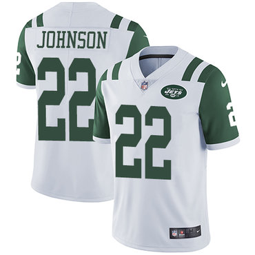 Nike New York Jets #22 Trumaine Johnson White Men's Stitched NFL Vapor Untouchable Limited Jersey
