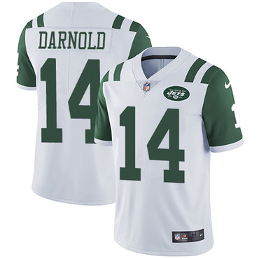 Nike New York Jets #14 Sam Darnold White Men's Stitched NFL Vapor Untouchable Limited Jersey