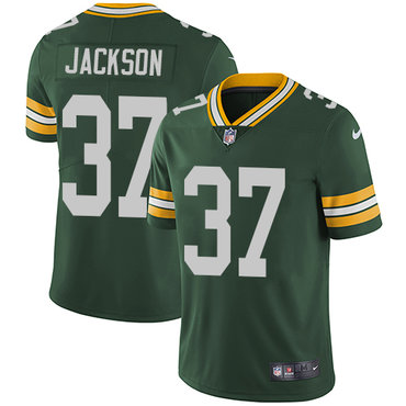 Nike Green Bay Packers #37 Josh Jackson Green Team Color Men's Stitched NFL Vapor Untouchable Limited Jersey