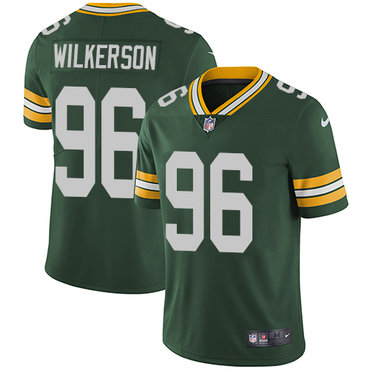 Nike Green Bay Packers #96 Muhammad Wilkerson Green Team Color Men's Stitched NFL Vapor Untouchable Limited Jersey